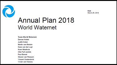 Annual plan 2018 klein